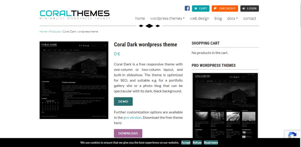 coraldarkBestfreeWordPressThemeforblog