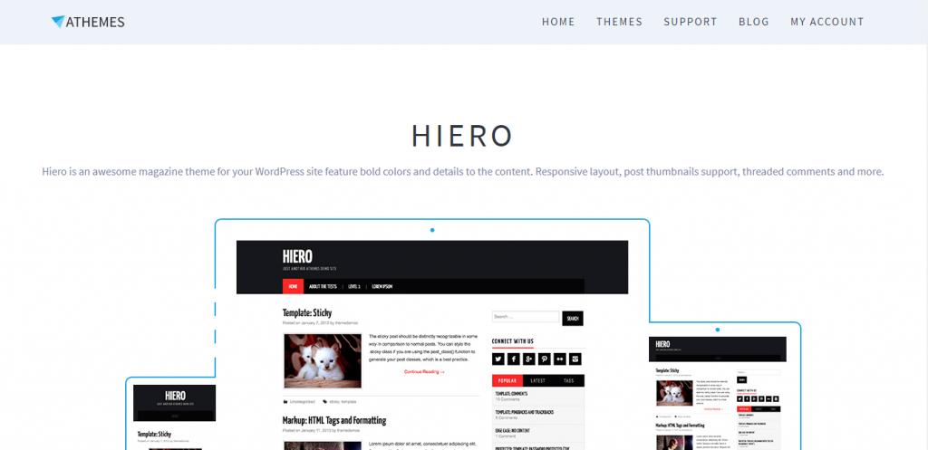 hieroBestfreeWordPressThemeforblog