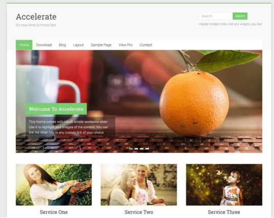 accelerate feminine WordPress Blog Theme