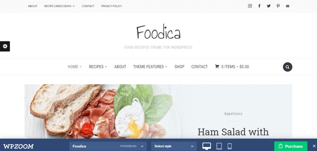 foodicaBestfressWordPressthemeforblog