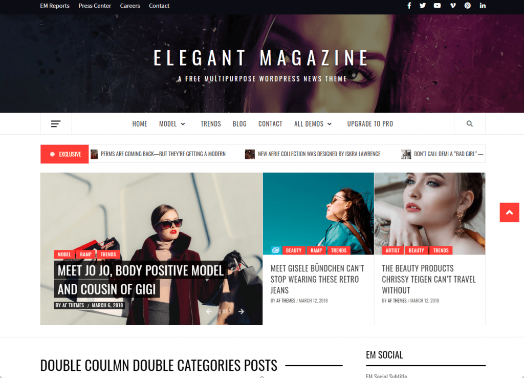 elegant WordPress Magazine theme