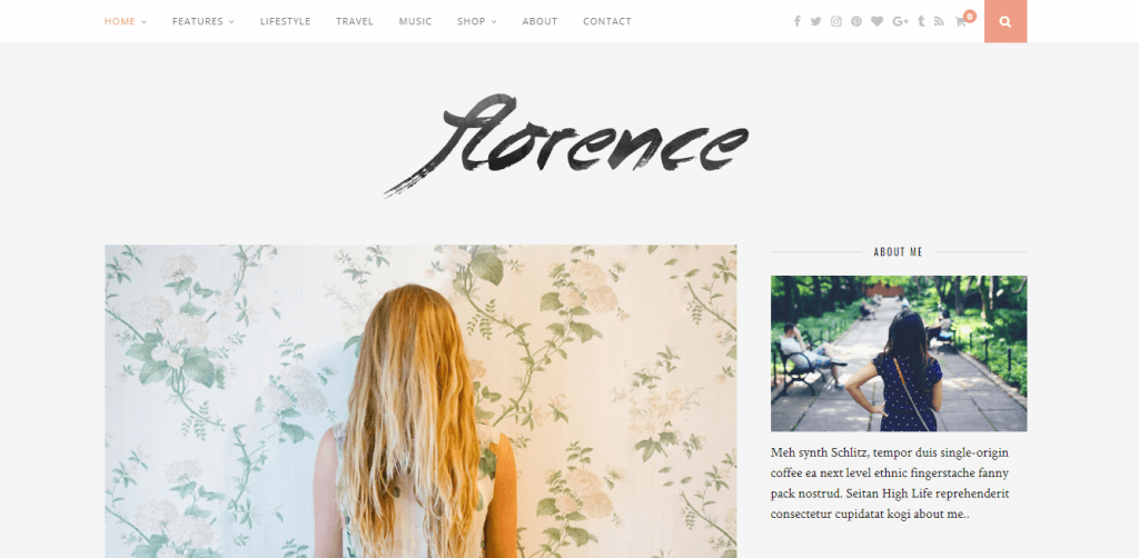 feminine WordPress blog theme