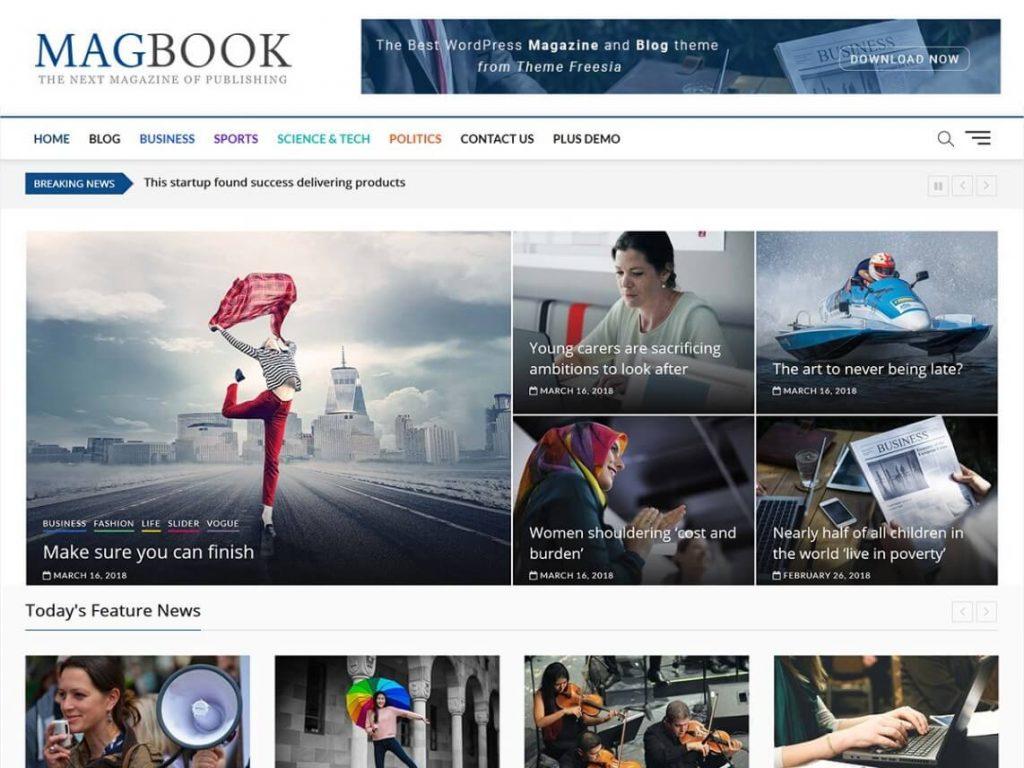 magbook WordPress Magazine theme