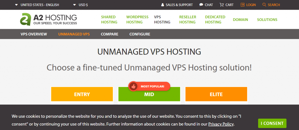 a2hosting  best hosting for WordPress Website