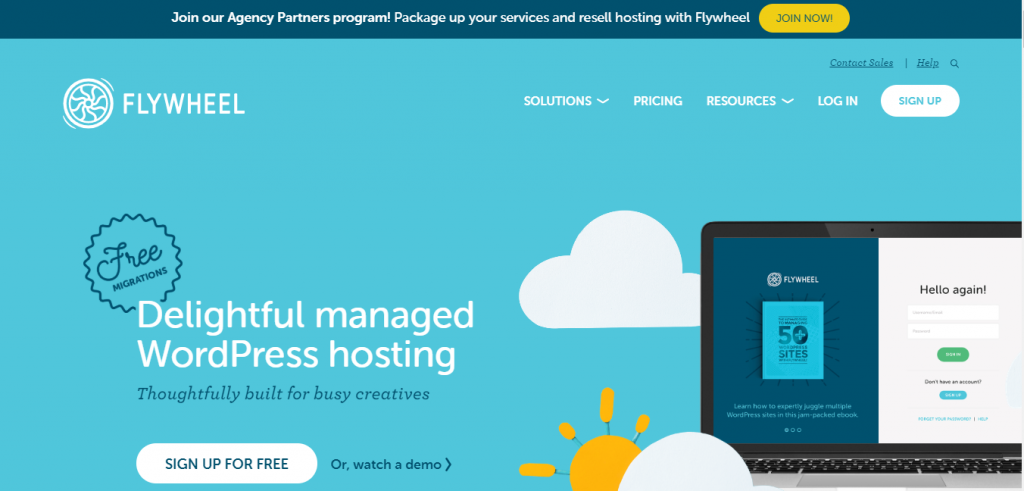 flywheel  best hosting for WordPress Website