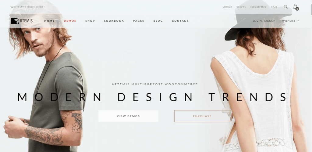 Artemis  best WordPress themes for eCommerce