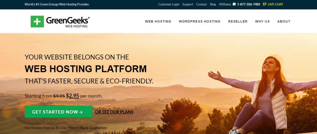 greengreeks  best hosting for WordPress Website