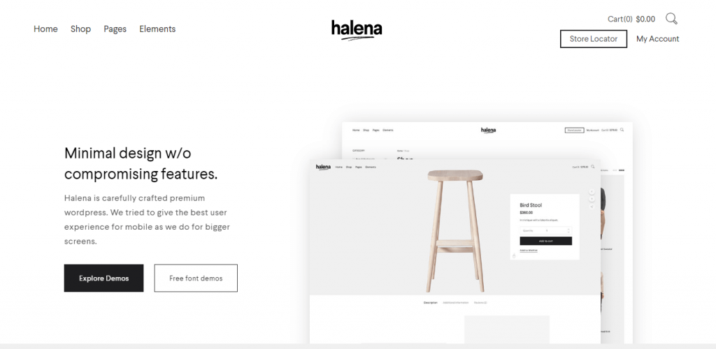 best WordPress themes for eCommerce halena