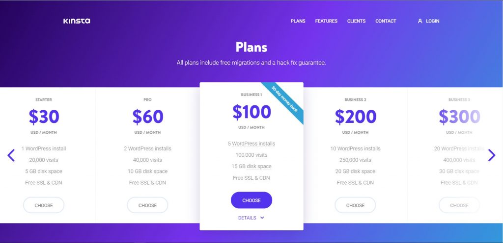 kinsta best hosting for WordPress Website