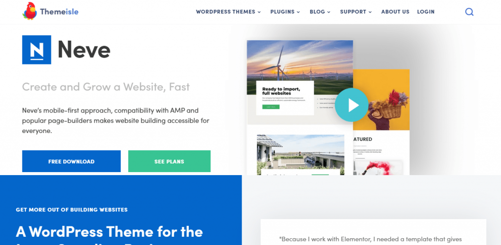Neve best free themes in WordPress