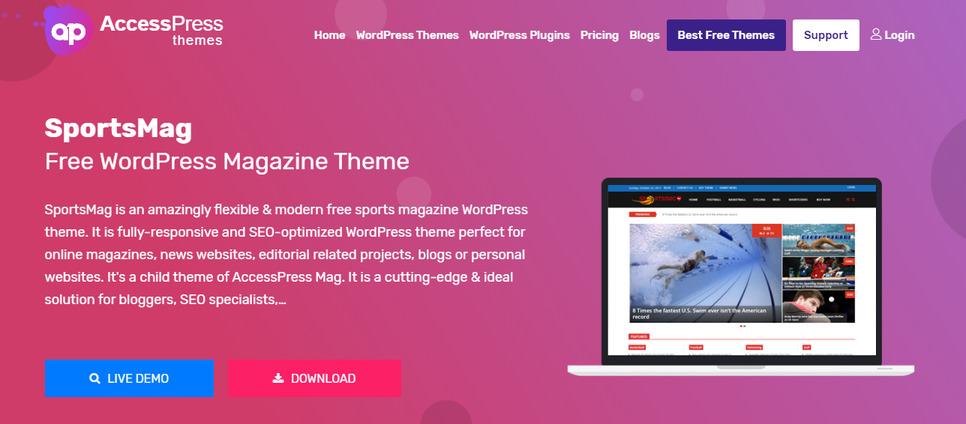 sportsmag best WordPress Sports Themes
