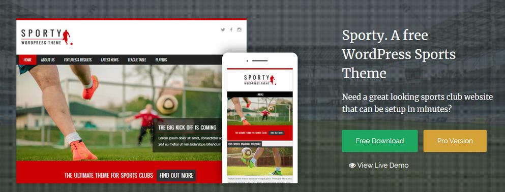sporty best WordPress Sports Themes