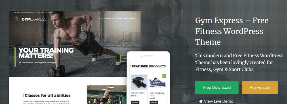 gym express best WordPress Sports Themes