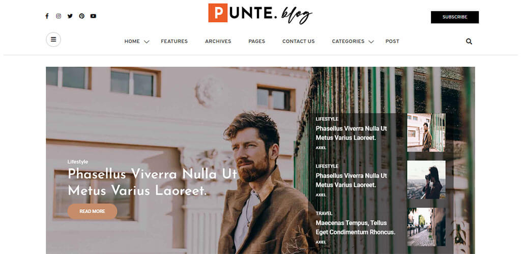 punte multipurpose WordPress themes