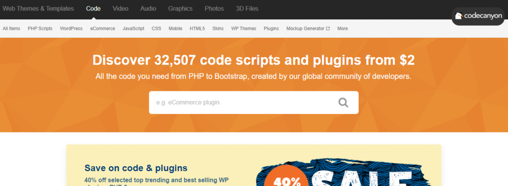 codecanyon marketplaces to sell WordPress themes and plugins