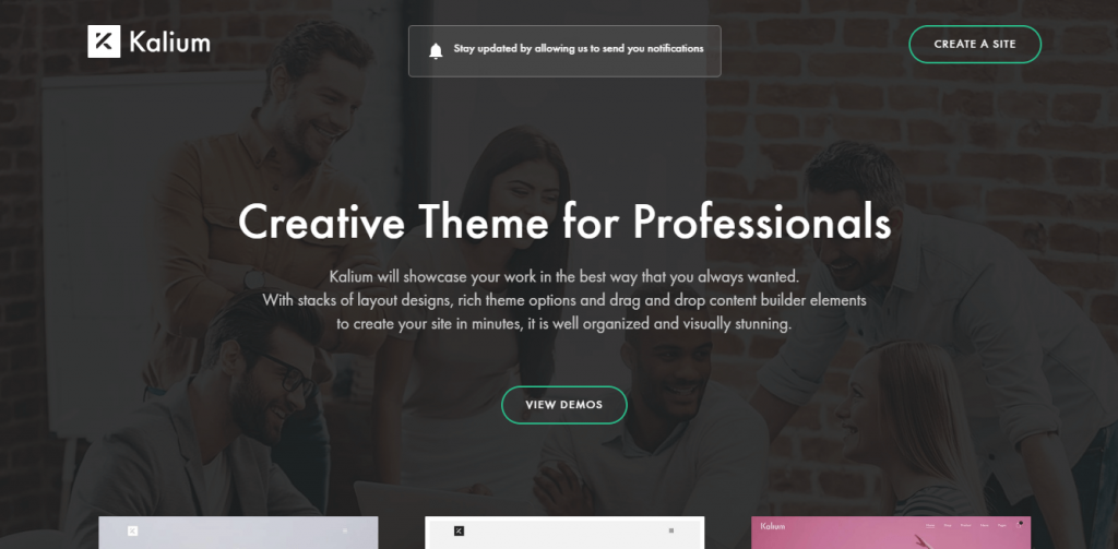 kalium multipurpose WordPress themes