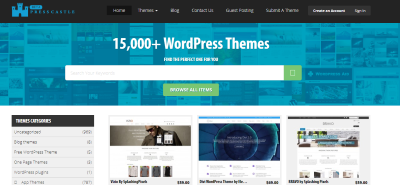 presscastle marketplaces to sell WordPress themes and plugins