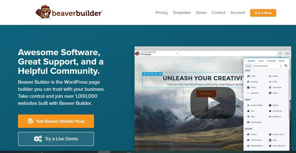 Beaver Builder WordPress plugins for business