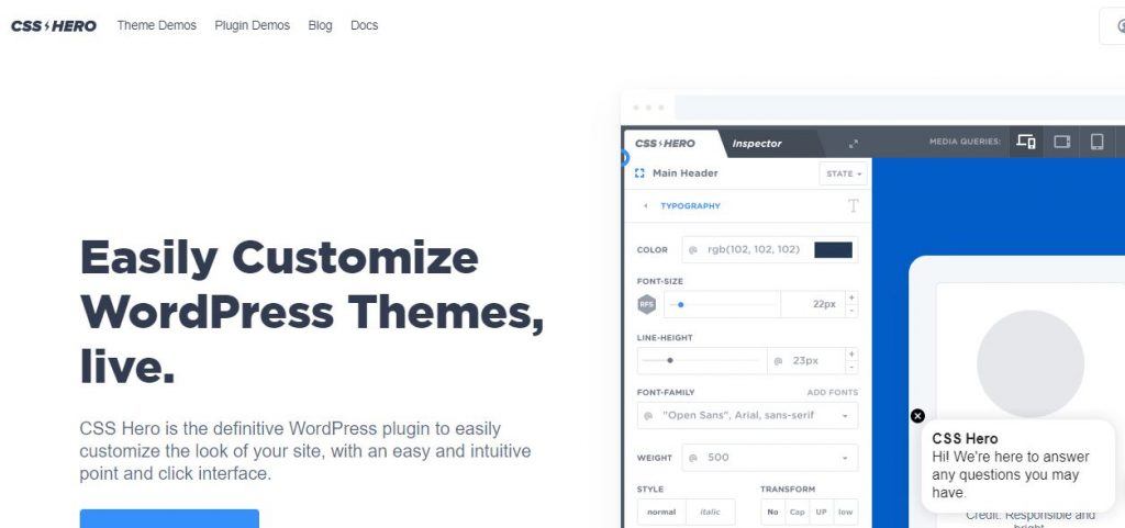 CSS Hero WordPress plugins for business
