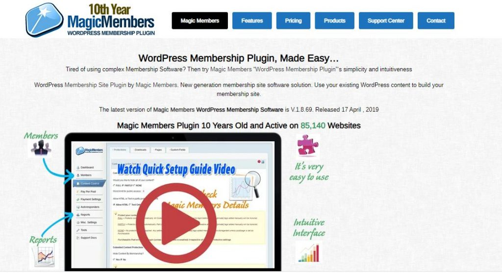Magic member subscription plugins for WordPress