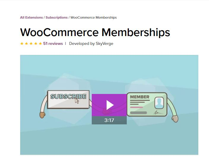 WooCommerce Membership subscription plugins for WordPress